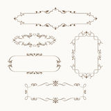 Ornate frames. Set of vintage ornate frames with floral elements for invitation, congratulation and greeting card Stock Photos