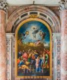 Ornate fresco at Saint Peter`s Basilica in Vatican Stock Photos