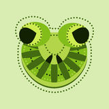 Ornate frog head Royalty Free Stock Images