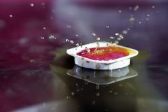 Watercolors with water drops as background pictures Stock Photo