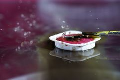 Watercolors with water drops as background pictures Royalty Free Stock Photo