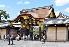 Ornate Gate, Japanese castle. The ornate inner gate Kara-mon Gate of Nijo Castle, Kyoto, Japan Stock Photography