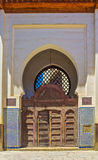 Ornate gate in the medina of Fes Morocco Stock Images
