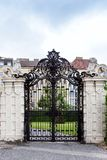 Ornate gate in Upper Belvedere Gardens in Vienna Stock Image