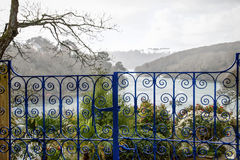 Ornate Gates At The Helford River Stock Photo