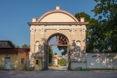 Ornate gates of Sapieha park, Vilnius, Lithuania Stock Images