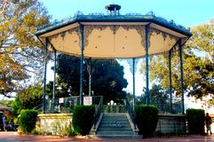 Ornate gazebo. An empty outdoor gazebo in downtown los angeles Stock Image