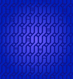 Ornate geometric deep blue pattern  Network seamless background  Wickerwork  Decorative texture for design textile Stock Image