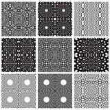 Ornate geometric seamless patterns set. Royalty Free Stock Photography