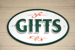 Ornate GIFT Sign Royalty Free Stock Photography