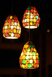 Ornate glass lamp Royalty Free Stock Photography