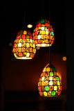 Ornate glass lamp Royalty Free Stock Image