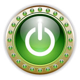 Ornate Glossy Power Button royalty free illustration