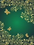 Ornate gold background Royalty Free Stock Photo