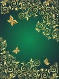 Ornate gold background Royalty Free Stock Photo