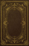 Classical Book Cover. An ornate gold foil design that would be seen on a vintage leather book Royalty Free Stock Photos