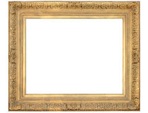 Ornate Gold Frame. Gold frame with clipping path over white background Royalty Free Stock Images