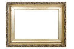 Ornate Gold Frame. An ornate gold frame against a white background, very easy to drop a photo in Royalty Free Stock Photos