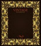 Ornate gold frame. Stock Image