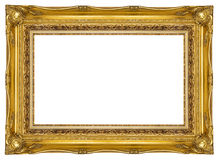 Ornate Gold Picture Frame stock photo