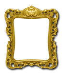 Ornate gold picture frame against white Royalty Free Stock Photo
