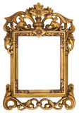 Ornate Gold Picture Frame Royalty Free Stock Photography
