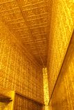 Ornate gold walls and ceiling at Botatoung Pagoda Yangon Myanmar Royalty Free Stock Images