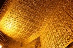 Ornate gold walls and ceiling at Botatoung Pagoda Yangon Myanmar Royalty Free Stock Photography