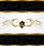 Ornate golden decorative frame Stock Image