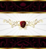 Ornate golden decorative frame Royalty Free Stock Images