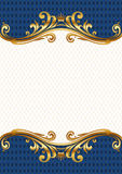 Ornate golden frame vector illustration