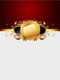Ornate golden frame Stock Photography