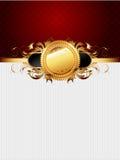 Ornate golden frame Stock Photography