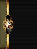 Ornate golden frame Royalty Free Stock Images