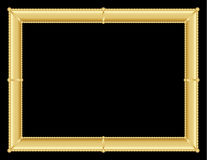 Ornate golden frame on black background Royalty Free Stock Photos