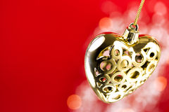 Ornate golden heart Royalty Free Stock Photo