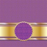 Ornate Golden Lilac Background Royalty Free Stock Images