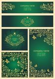 Ornate golden templates for you corporate style Stock Photo