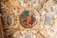 Doge`s Palace Palazzo Ducale Paint on the Ceiling Stock Image
