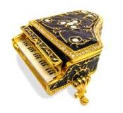 Ornate grand piano keys Stock Photo