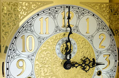 Ornate Grandfather Clock Face Royalty Free Stock Image