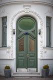 Ornate Green Doorway Stock Image