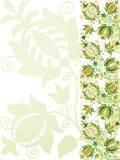 Ornate green flower design Royalty Free Stock Photos