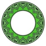 Ornate green frame Royalty Free Stock Image