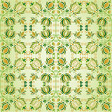 Ornate green and gold flower design. Beaztiful ornate green and gold flower design Stock Images