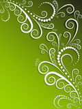 Ornate green and white background Royalty Free Stock Image