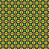 Ornate Green and Yellow Pattern Royalty Free Stock Photo