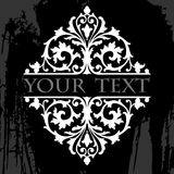 Ornate Grunge Tribal Quad. Black And White Ornate Grunge Tribal Quad Royalty Free Stock Images