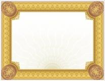 Ornate Guilloché Certificate-Diploma Design stock illustration