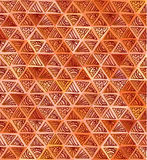 Ornate hand-drawn brown triangles pattern Royalty Free Stock Photos